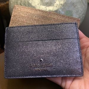Authentic Kate Spade smooth glitter leather card